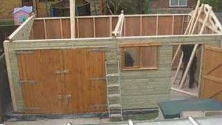 Timber Garage Assembly