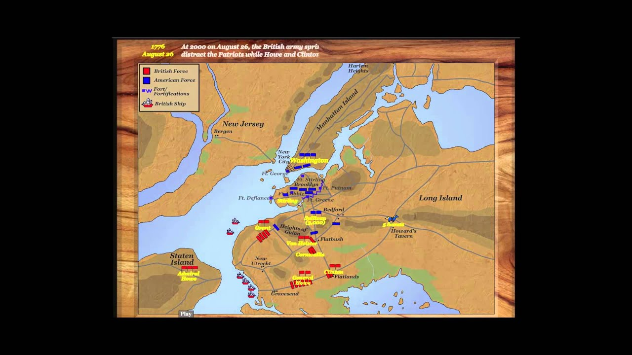 Revolutionary War Map Of New York.The Battle Of New York The Revolutionary War Youtube