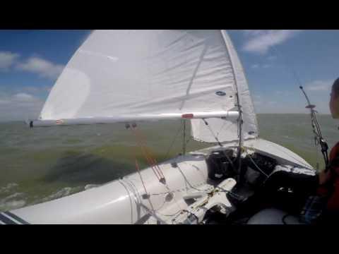 Клип про парусный спорт (2-я часть). Класс яхты:420