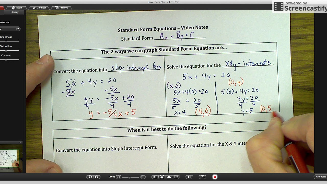 Standard form equations deciding how to solve graph youtube standard form equations deciding how to solve graph falaconquin