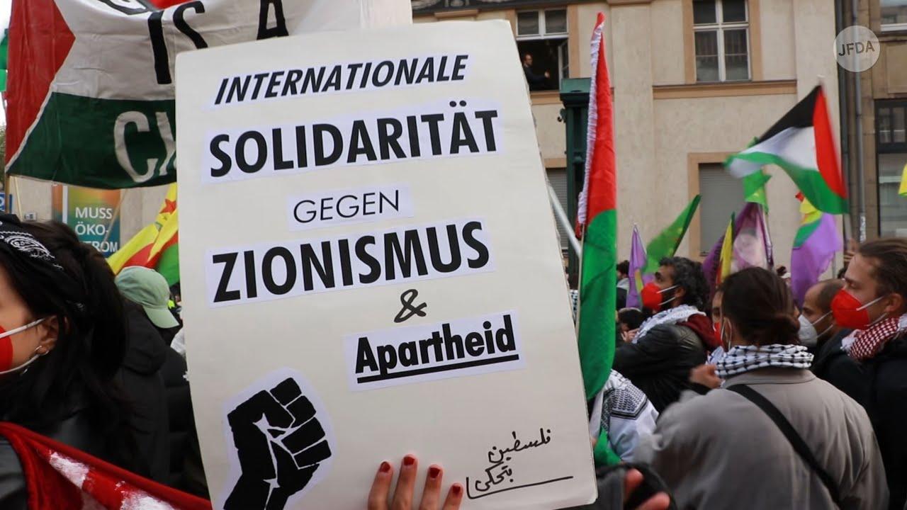 """Antisemitische Parolen auf """"Revolutionärer 1. Mai""""-Demonstration in Berlin"""