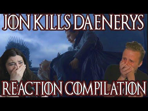 Game Of Thrones Season 8 Episode 6 | Jon Kills Daenerys Reaction Compilation