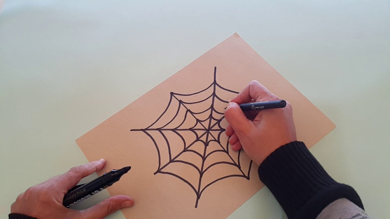 كيف نرسم شبكة العنكبوت How To Draw A Spider Net Youtube