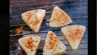 Адыгейский сыр на решетке