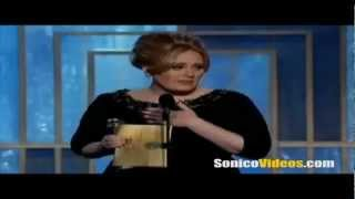 Adele en los Golden Globes 2013