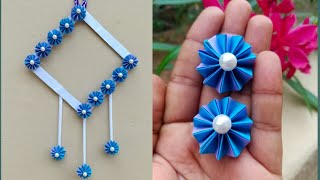 Amazing and Attractive Paper Flower Wall Hanging / Diy Paper flower wall hanging / Kovaicraft
