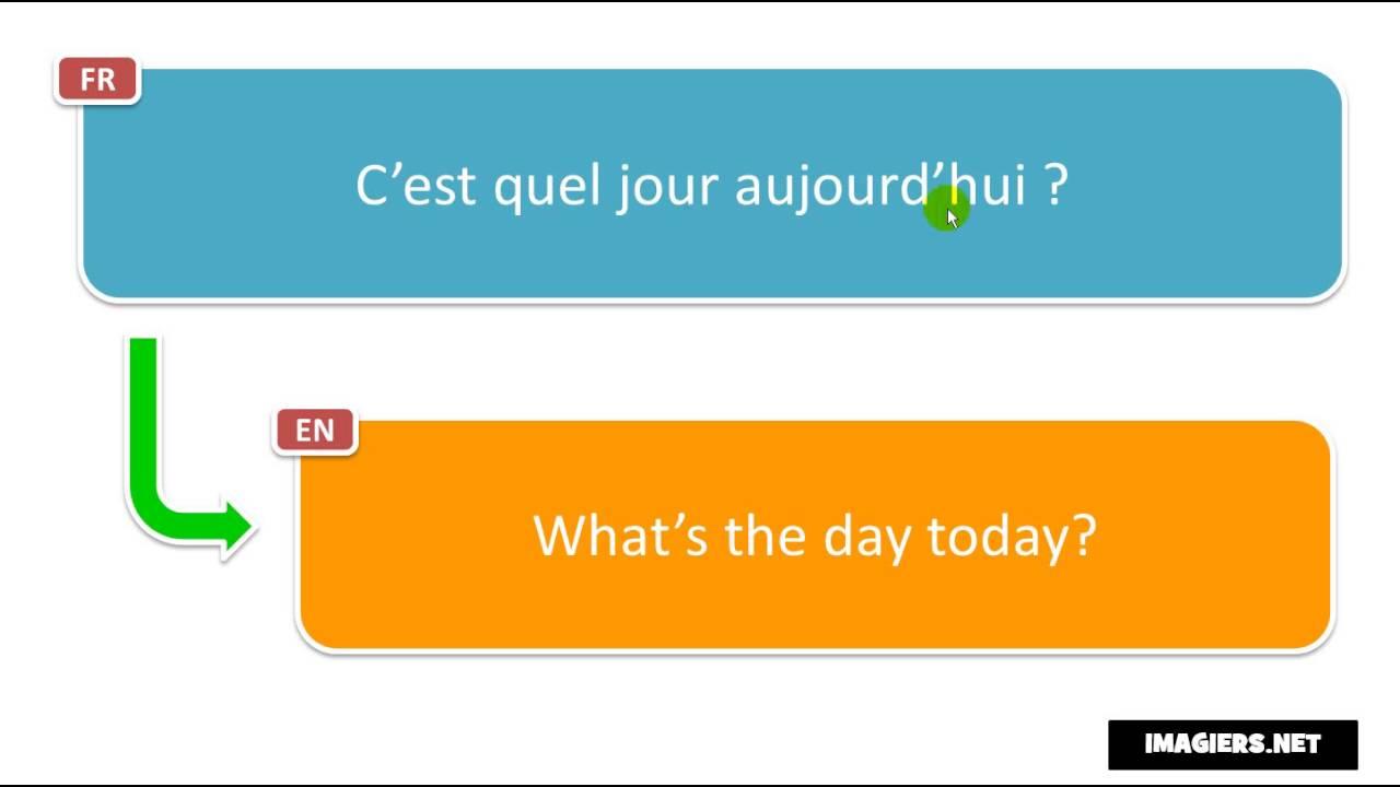 learn french phrases c est quel jour aujourd hui youtube. Black Bedroom Furniture Sets. Home Design Ideas