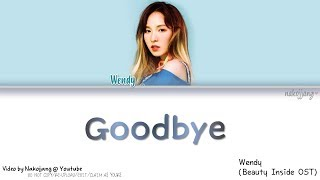 Wendy (웬디) – Goodbye (Beauty Inside OST) *TEASER* (Color Coded Lyrics Eng/Rom/Han/가사) mp3