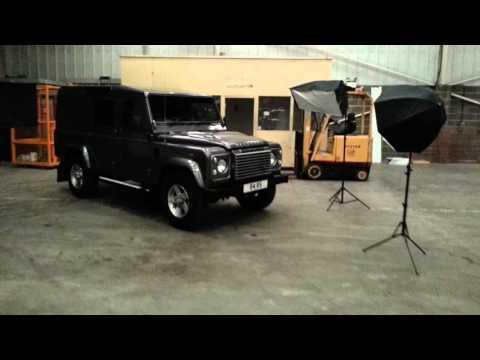 Land Rover Defender 110 on set making of