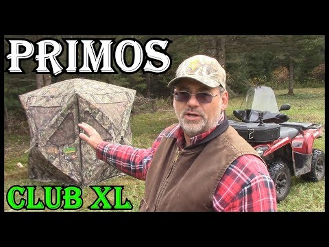DEER HUNTING - PRIMOS CLUB XL  GROUND  BLIND  REVIEW