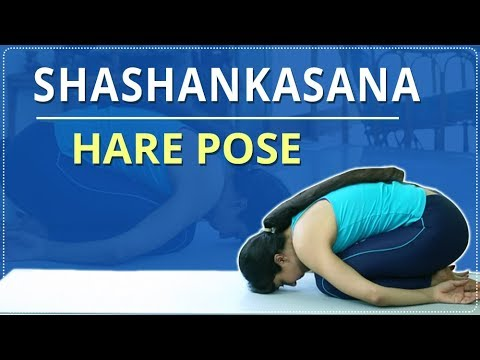 learn how to do the hare pose  shashankasana  simple