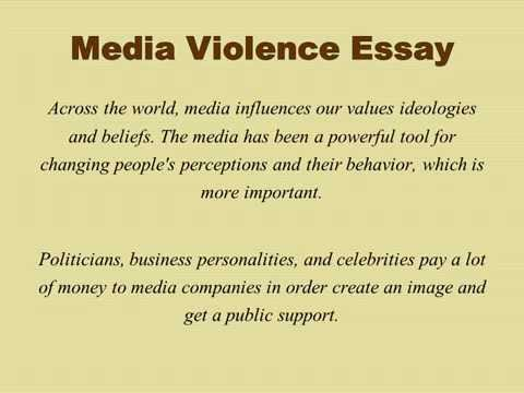 does media violence cause societal violence essay Games and violence essay  introduction: computer games have seriously caught the attention of mass media and nowadays every channel considers its duty to remind people how much damage these games cause to children and adults the increasing amount of games with violent scenes sock the society and makes it very aware of themit is already common.