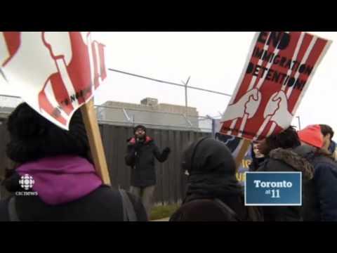 Rally at Toronto Immigration jail - CBC Nov 24