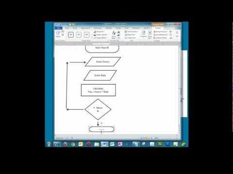 Creating a Simple Flowchart in Microsoft Word.