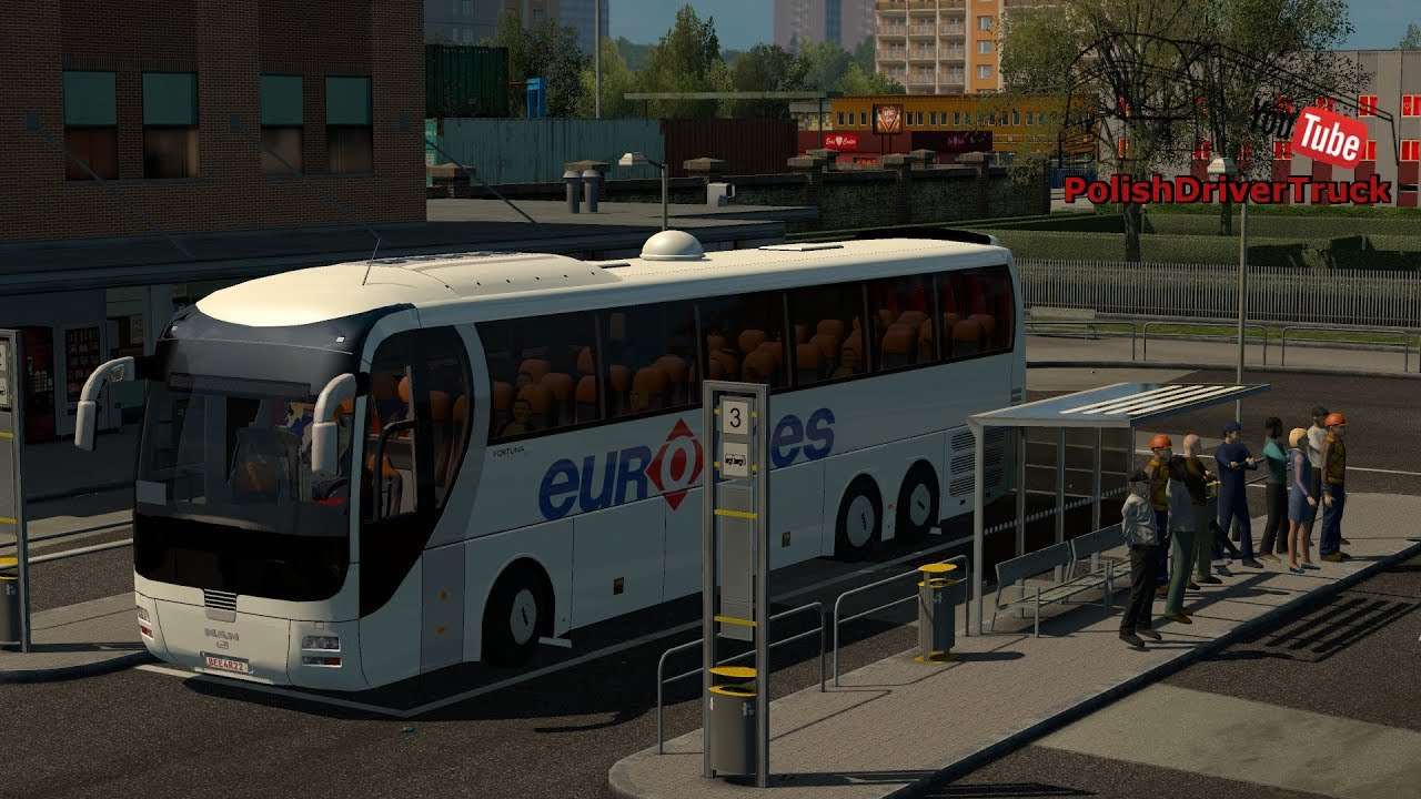 BUS STATIONS MOD V1 1 AIO 1 31 X | ETS2 mods | Euro truck