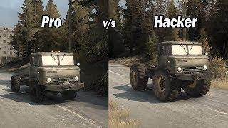 Spintires Mudrunner Pro vs Hacker