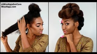 """How To """"Janelle Monae"""" Protective Style for NATURAL HAIR"""