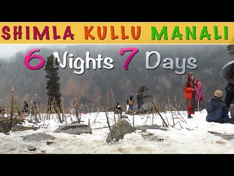 Shimla Kullu Manali Tour | Shimla Kullu Manali Tour Guide | 6 Nights 7 Days Shimla Manali Tour Plan