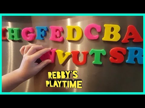 Learning Alphabet with Magetic Letters. Alphabet Song for Kids. Colorful  Alphabet Fun Toy Play.
