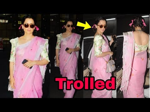 Kangana Ranaut badly trolled for her FUNNY look at airport