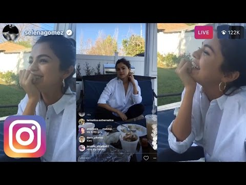 Selena Gomez talks about Rehab on Instagram Live