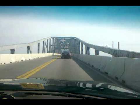 Crossing the Potomac River Bridge (2 + miles) on U. S. 301