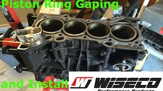 Boosted K24 Honda: Piston Ring Gapping and Install