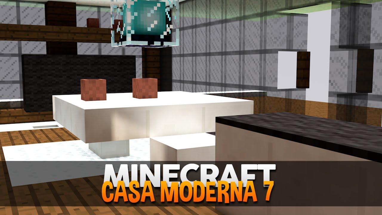 Minecraft decora o da casa moderna 7 youtube for Casa moderna total white