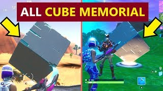 All Fortnite Cube Memorials Locations (Fortnite Season 10 Worlds Collide Mission Challenges)