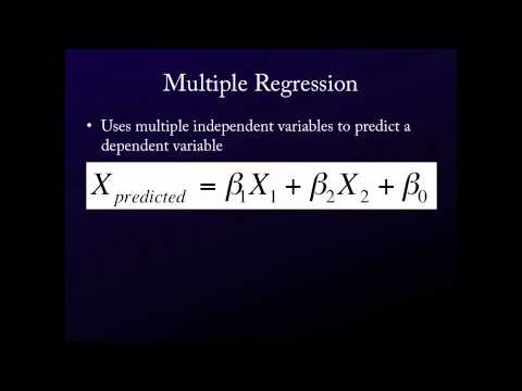 Intro. to Statistics for the Social Sciences - On Multiple Regression