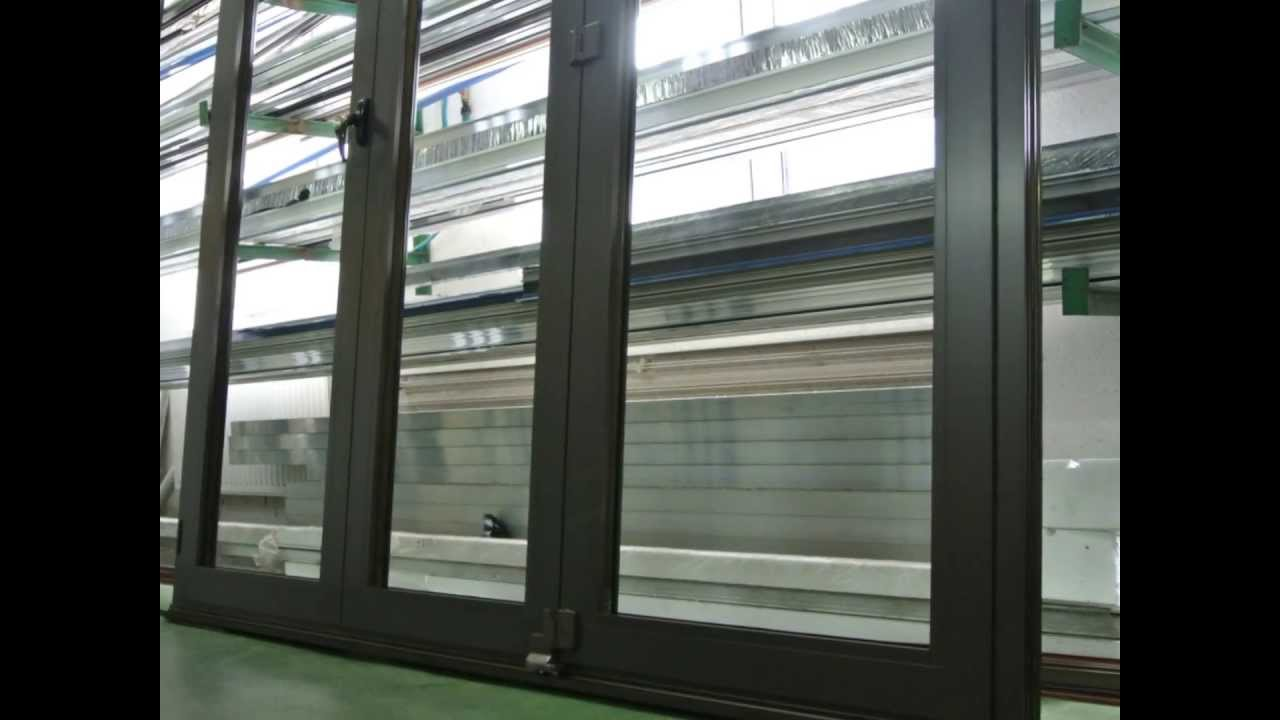 portes pliantes en aluminium mirox youtube. Black Bedroom Furniture Sets. Home Design Ideas
