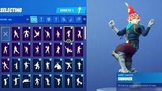 GNOME (GRIMBLES SKIN) Fortnite Dance And Emotes !