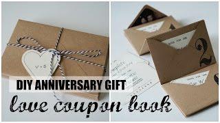 DIY Accordion Envelope Book | Anniversary Love Coupons | Free Printables