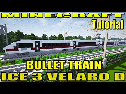 Minecraft Bullet Train Tutorial - ICE 3 (Siemens Velaro D - DB Class 407)