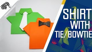 Origami - How To Make Shirt With Tie/Bowtie
