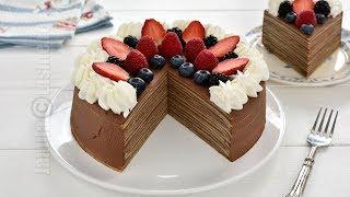 Tort de clatite cu ciocolata | JamilaCuisine