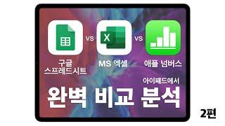 마이크로소프트 엑셀 vs 구글 스프레드시트 vs 애플 …