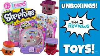 Shopkins Season 5 Part 1 Unboxing 12 Packs 5 Packs Blind Bags Charms