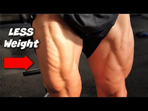 How To Build HUGE Legs Lifting LESS Weight