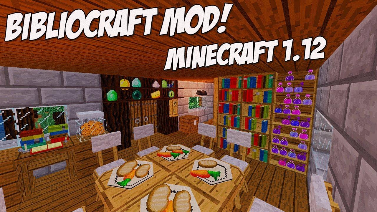 Minecraft 112 Biblocraft Mod Spotlight Potion Racks Tables Chairs