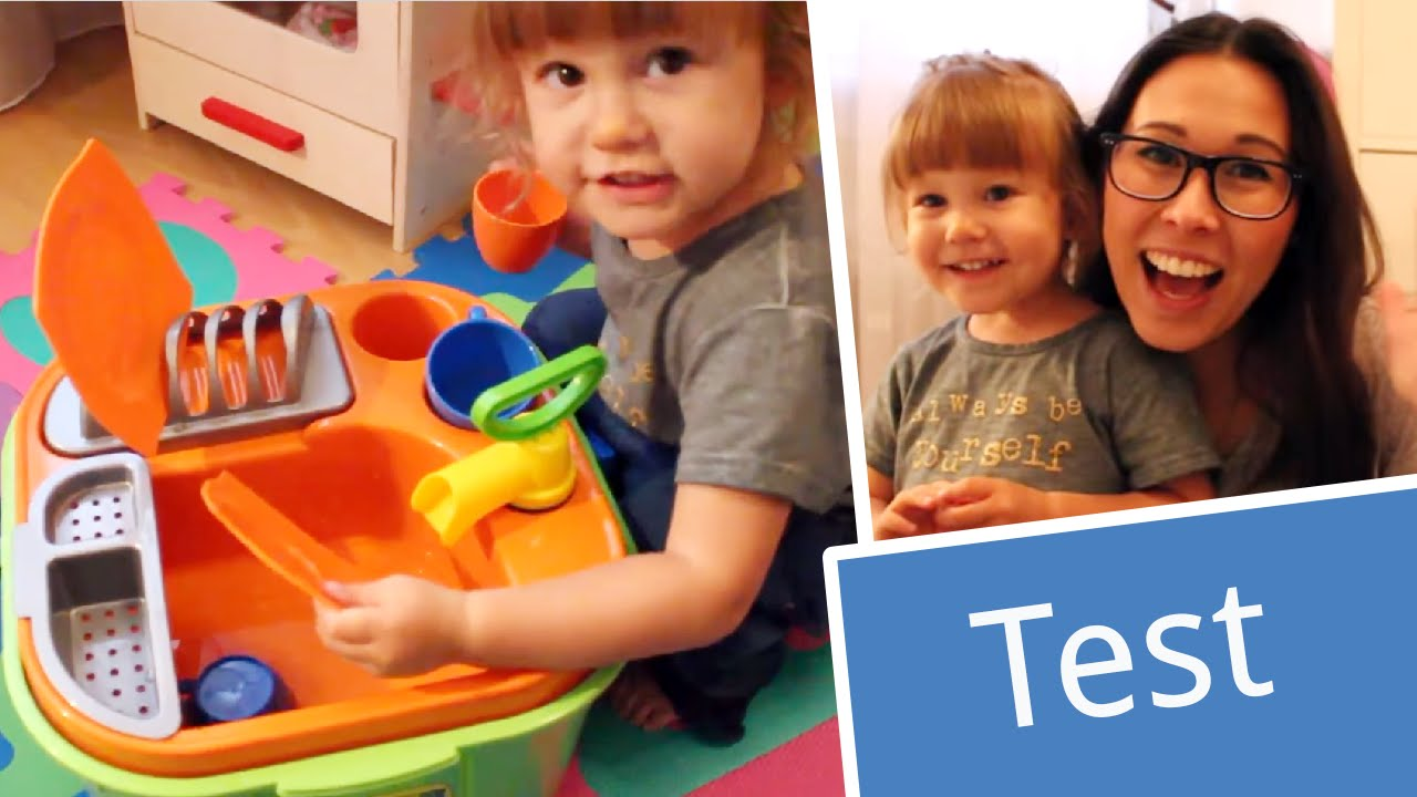 Test: Wader Eimer Spüle mit Geschirr | babyartikel.de - YouTube