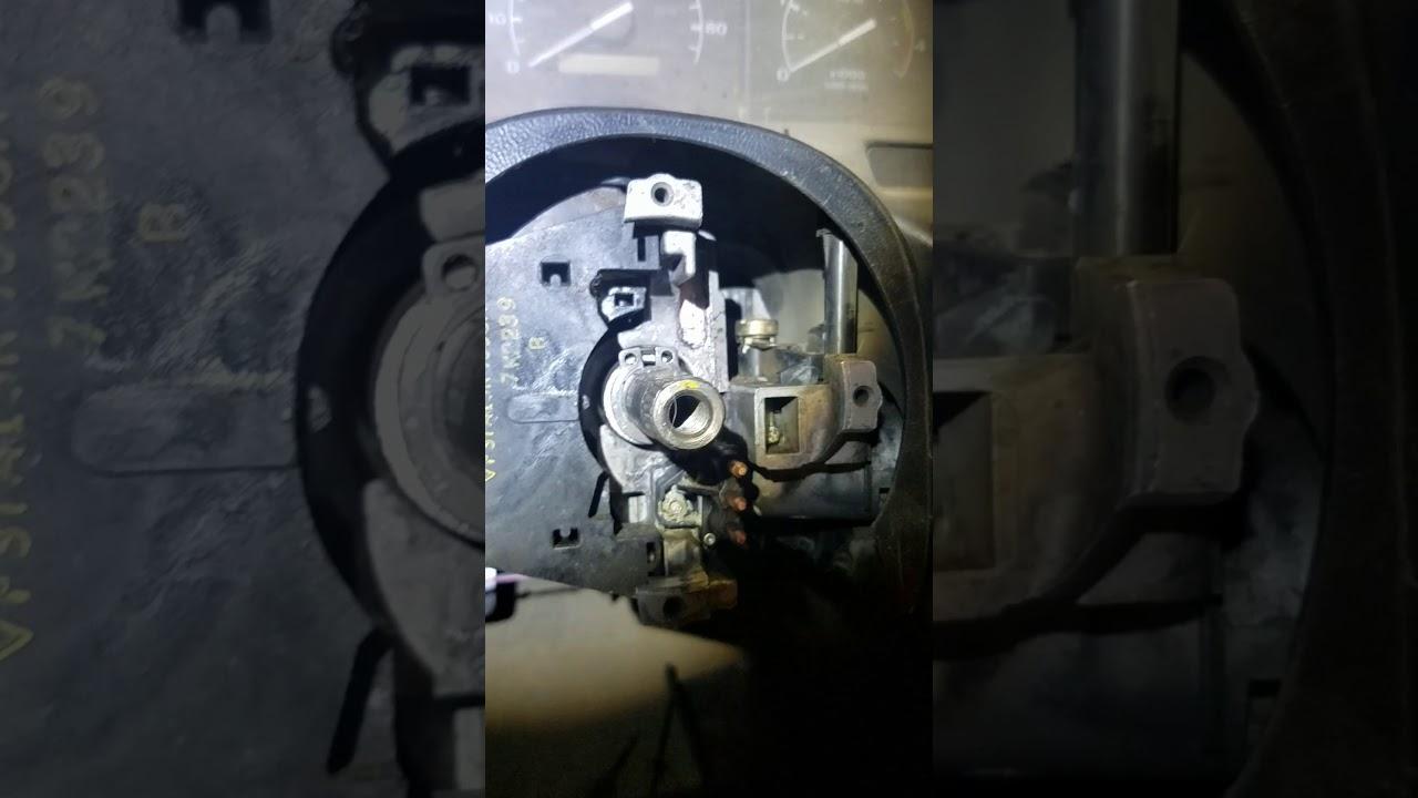 medium resolution of 97 f350 steering column bearing spring install