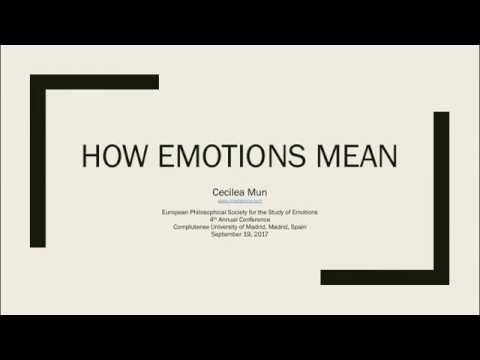 """""""How Emotions Mean"""""""