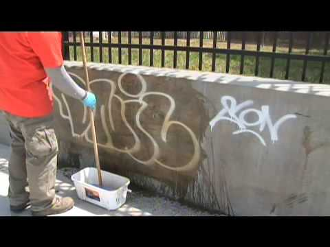 'World's Best' graffiti removal. Take a look