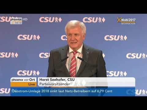 Horst Seehofer zur Landtagswahl in Niedersachsen am 16.10.17