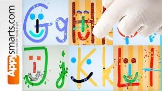 İçin alfabe Karikatür - G L ile harf - en iyi iPad demo çocukları