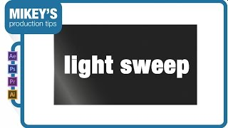 after effects light sweep 3d text shadow reflection