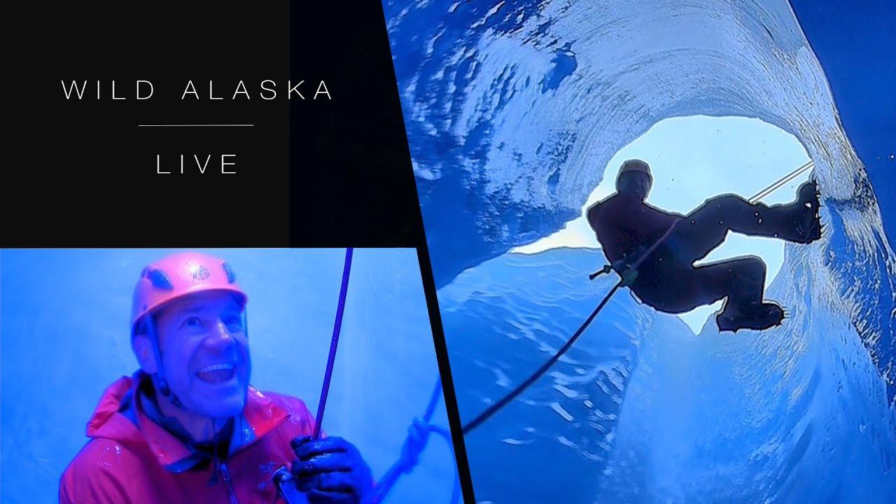 Steve Backshall climbs through a freezing glacier: Wild Alaska Live: Episode 2 - BBC One