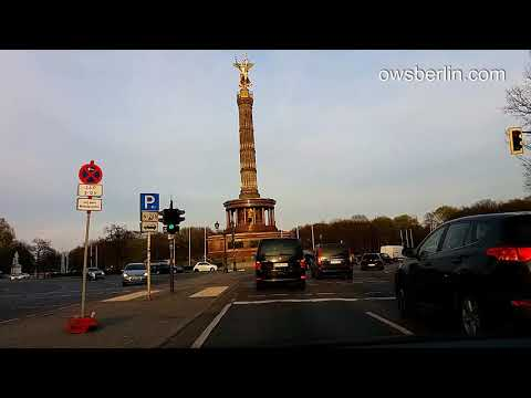 Driving in Berlin, Germany. Авто прогулка по Берлину.