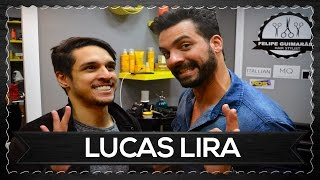 LUCAS LIRA APARECEU PARA CORTAR O CABELO